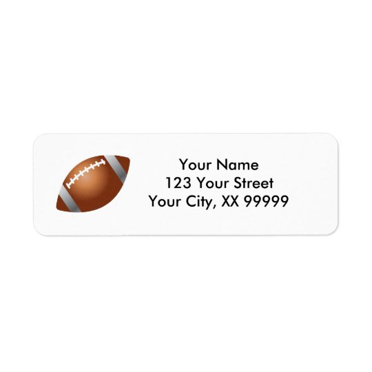 Fotbolladressetiketter Returadress Etikett