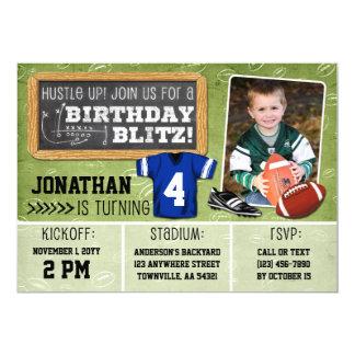 FotbollBlitzunge födelsedagsfest inbjudan