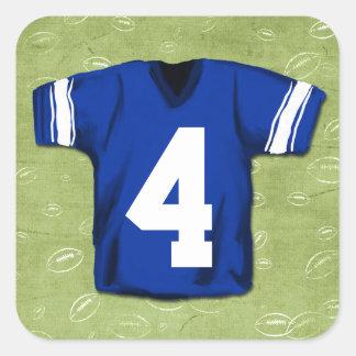 FotbollBlitzunge Jersey numrerar Fyrkantigt Klistermärke