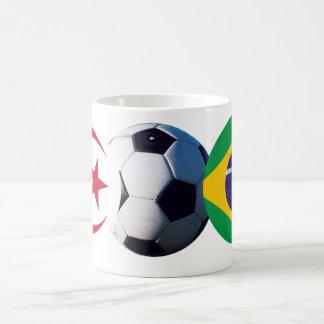 Fotbollboll Algeriet & Brasilien sjunker MUSEET Za Kaffe Kopp