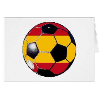 Fotbollboll Flagga-Spanien MUSEUMgåvorna Transp Kort