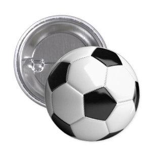 Fotbollboll (futbol) klämmer fast/knäppas - mini knapp rund 3.2 cm
