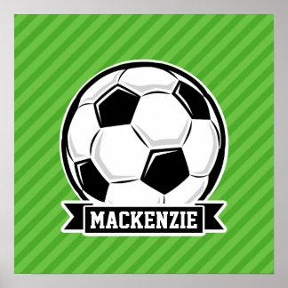 Fotbollboll; Gröntrandar Affischer