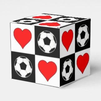 Fotbollboll- & hjärtagåvan boxas för presentaskar