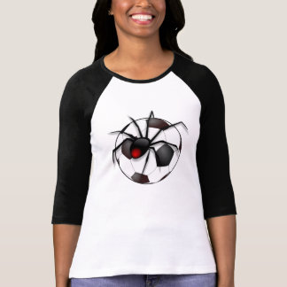 Fotbollboll med den svart änkan - fotbollänka t-shirt