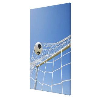 Fotbollboll och mål 2 canvastryck