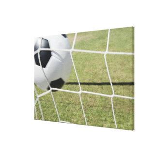 Fotbollboll och mål 3 canvastryck
