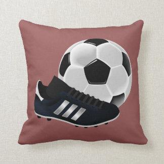 Fotbollboll och skor kudde