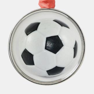 Fotbollboll Rund Silverfärgad Julgransprydnad