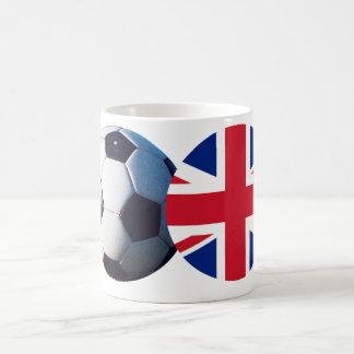 Fotbollboll & UK-flagga MUSEET Zazzle Mugg