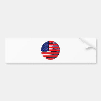 Fotbollboll & USA Flag2 MUSEET Zazzle Bildekal