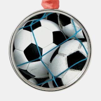 Fotbollbollar Rund Silverfärgad Julgransprydnad