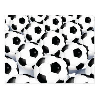 Fotbollbollmönster Vykort
