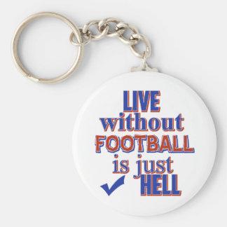 fotbolldesign rund nyckelring