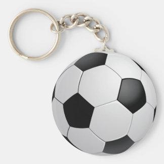 Fotbollfotboll Keychain Rund Nyckelring