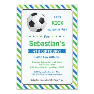 Fotbollinbjudan/fotbollfödelsedaginbjudan 12,7 X 17,8 Cm Inbjudningskort