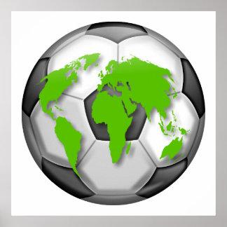 Fotbolljordklot Poster