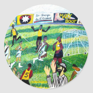 Fotbolllek Runt Klistermärke