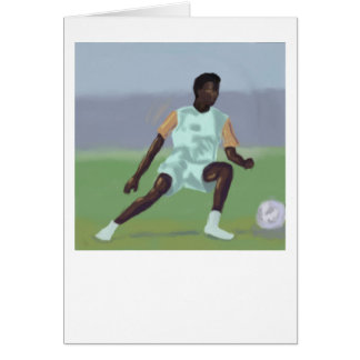 Fotbollspelare, hälsningkort hälsningskort