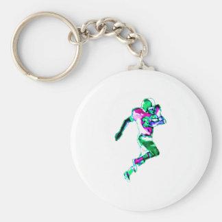 Fotbollspringergrönt Transp den MUSEUMZazzle Gifen Rund Nyckelring