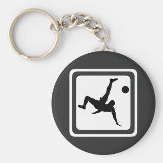 Fotbollsspelare Rund Nyckelring