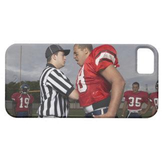 Fotbollsspelare som argumenterar med domare iPhone 5 fodral