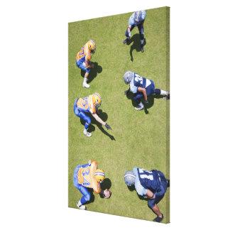 Fotbollsspelare som leker fotboll canvastryck