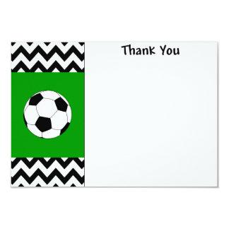 Fotbolltackkortkort 8,9 X 12,7 Cm Inbjudningskort