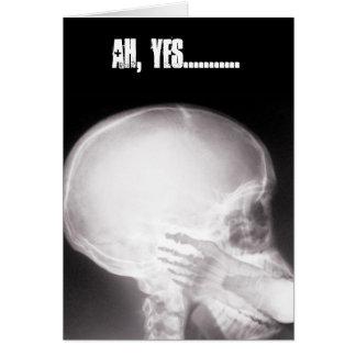 Foten i mun röntgar hälsningskort