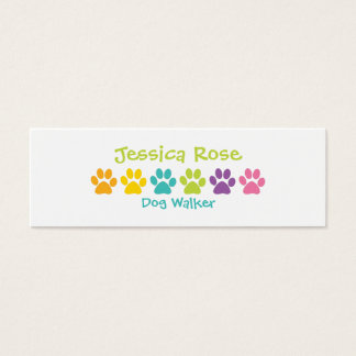 Fotgängare för hund för regnbågetasstryck litet visitkort