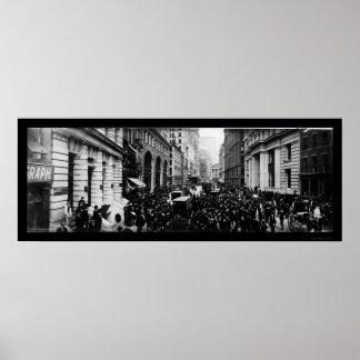Foto 1902 för gata NY för Curb brett Poster