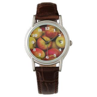 Foto av en Bushel av gula och röda äpplen Armbandsur