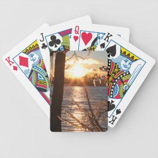 foto av floden efter en isstorm spelkort