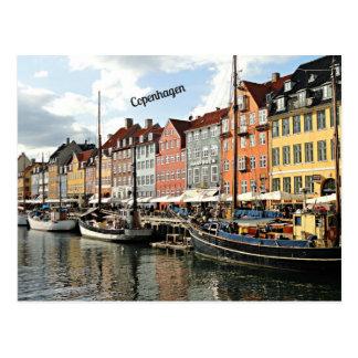 Foto av kanalen i Köpenhamn Vykort
