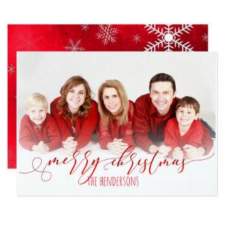Foto/Calligraphy för PixDezines julhelgdag 8,9 X 12,7 Cm Inbjudningskort