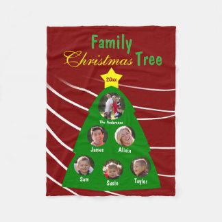 Foto för anpassningsbar för familjjulgranminnessak fleecefilt