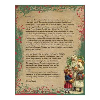 Foto för brev för vintageSanta jul på baksida Reklamblad