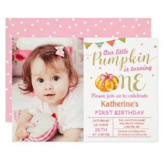 Foto för födelsedag för rosa guld- 12,7 x 17,8 cm inbjudningskort