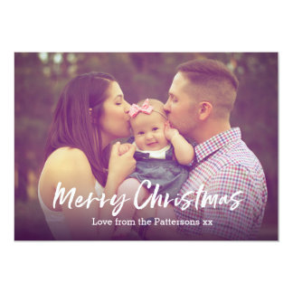 Foto för god julkortfamilj 12,7 x 17,8 cm inbjudningskort