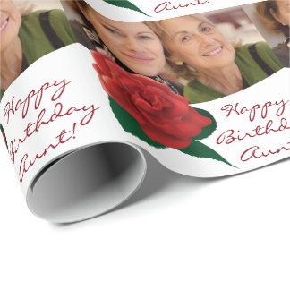 Foto för grattis på födelsedagenmostertext som presentpapper