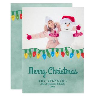 Foto för helgdag för vattenfärg för julljuskricka 12,7 x 17,8 cm inbjudningskort