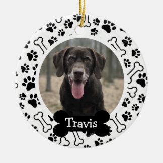 Foto för husdjur för personligvalphund julgransprydnad keramik