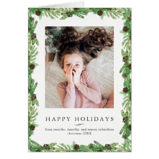Foto för jul för helgdaggräs | hälsningskort