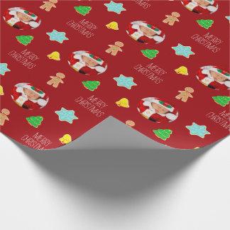 Foto för julkakaanpassningsbar paketpapper