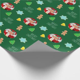 Foto för julkakaanpassningsbar presentpapper