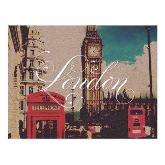 Foto för London Landmarkvintage Vykort