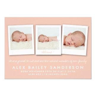 Foto för meddelande för Persika-Aprikos nyfödd 12,7 X 17,8 Cm Inbjudningskort