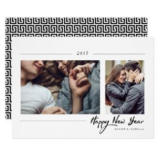 Foto för nytt år för Hipster 12,7 X 17,8 Cm Inbjudningskort