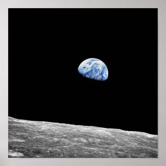 Foto för omlopp för måne för NASA Apollo 8 Poster