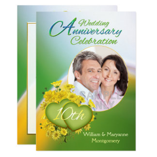 Foto för party för bröllopsdag för solskenkärlek 12,7 x 17,8 cm inbjudningskort